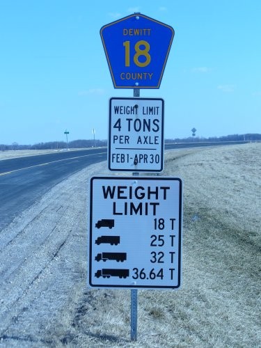 Axle Weight Limits : Welcome to dewitt county